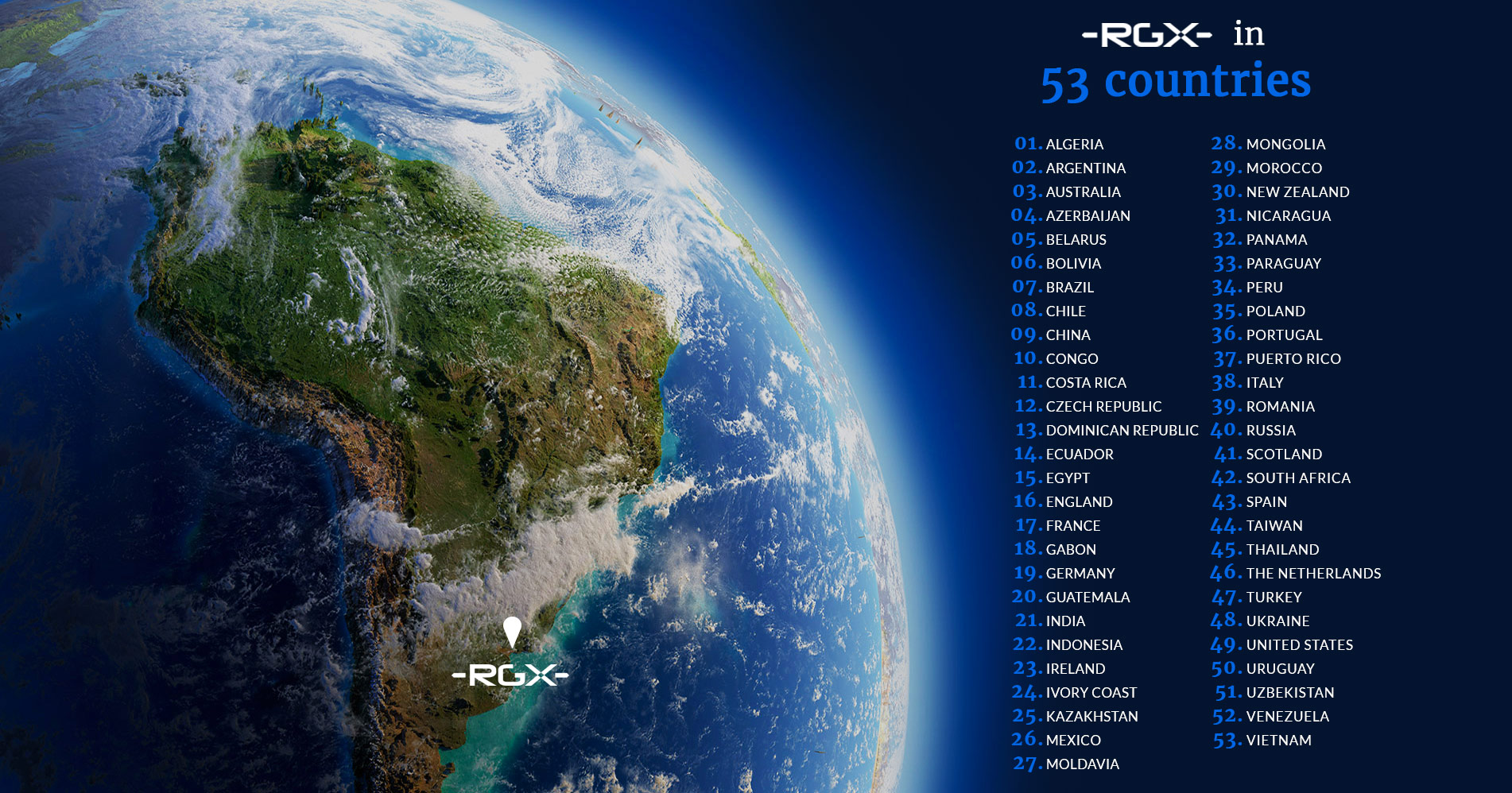 RGX in 53 countries