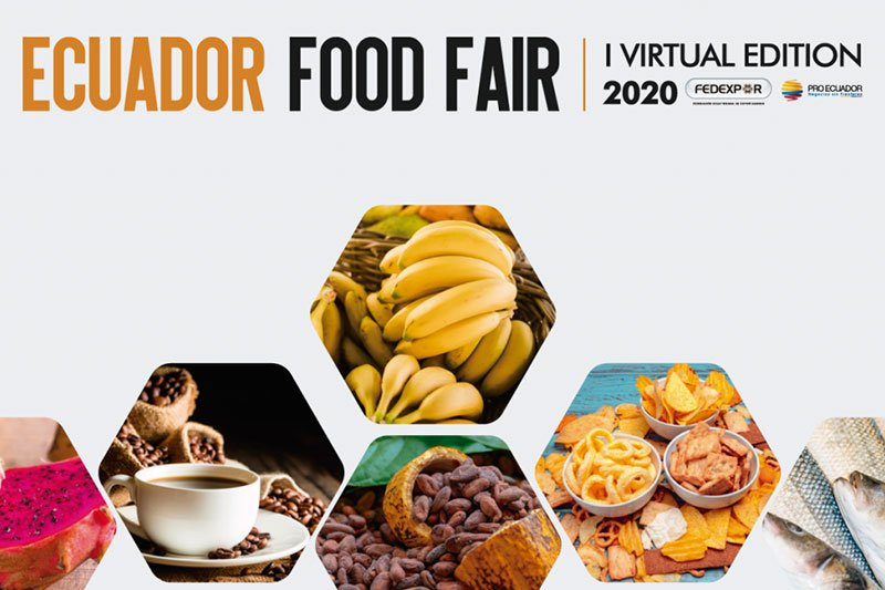 Successful management of participation of American buyers Food Fair Virtual of Ecuador